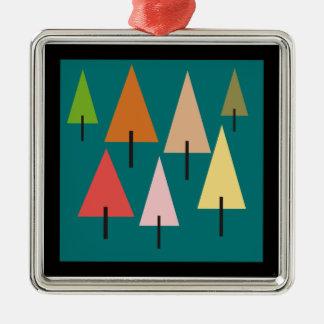Ornamento De Metal Impressão artística da floresta