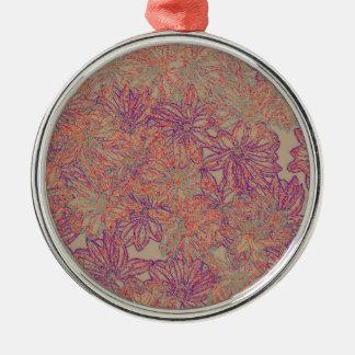 Ornamento De Metal Impressão da margarida de Rennie