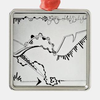 Ornamento De Metal Impressão do desenho dos calçados da forma de