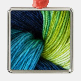 Ornamento De Metal Impressão do fio, fazendo malha, crochet