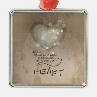 Ornamento De Metal Incentivo religioso do coração, Grunge