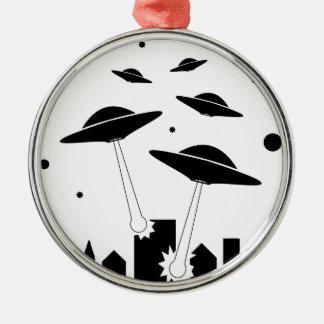 Ornamento De Metal Invasão do UFO