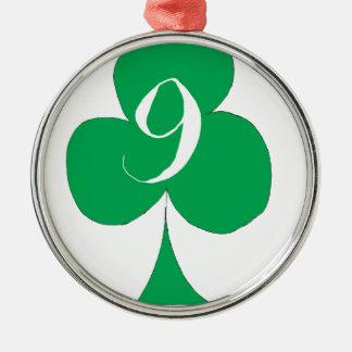 Ornamento De Metal Irlandês afortunado 9 dos clubes, fernandes tony