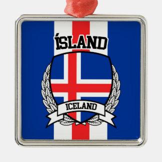 Ornamento De Metal Islândia