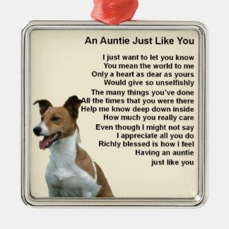 Ornamento De Metal Jack Russell - Auntie Poema