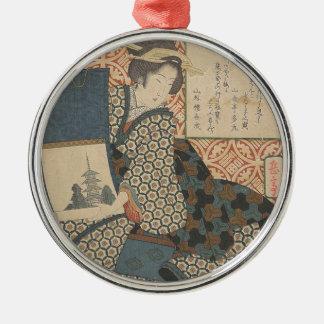 Ornamento De Metal Japonês Woodprint
