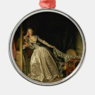 Ornamento De Metal Jean-Honore Fragonard - o beijo roubado - belas
