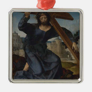 Ornamento De Metal Jesus Cristo com cruz