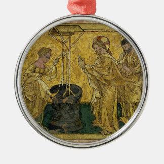 Ornamento De Metal Jesus e a mulher do samaritano no poço