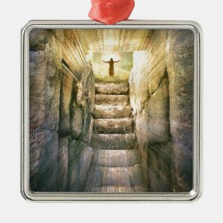 Ornamento De Metal Jesus na ressurreição vazia da páscoa do túmulo