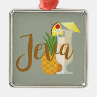 Ornamento De Metal Jeva