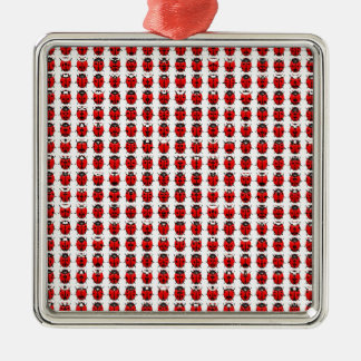 Ornamento De Metal Joaninhas pequenos vermelhos