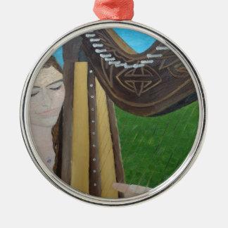 Ornamento De Metal Jogador da harpa por KatGibsonArt- para todos os