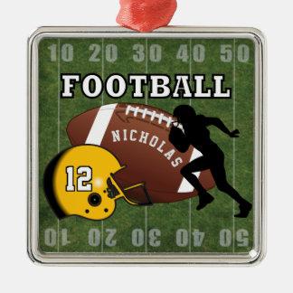Ornamento De Metal Jogador de futebol e capacete amarelo