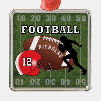 Ornamento De Metal Jogador de futebol e capacete vermelho