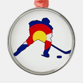 Ornamento De Metal Jogador de hóquei de Colorado