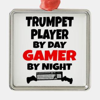 Ornamento De Metal Jogador de trombeta do Gamer