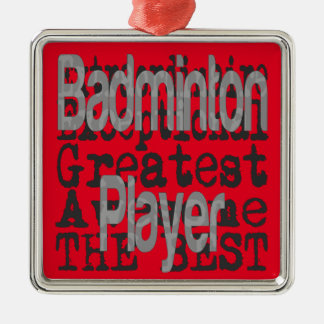 Ornamento De Metal Jogador do Badminton Extraordinaire