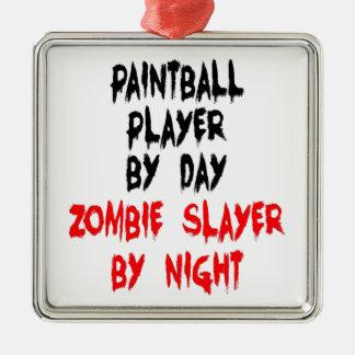 Ornamento De Metal Jogador do Paintball do assassino do zombi