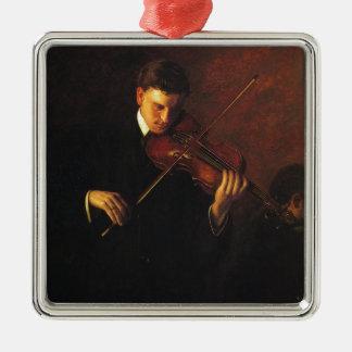 Ornamento De Metal Jogador do violino