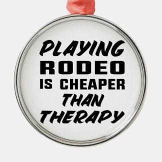 Ornamento De Metal Jogar o rodeio é mais barato do que a terapia