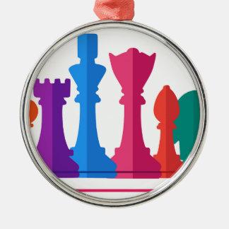 Ornamento De Metal Jogo de xadrez