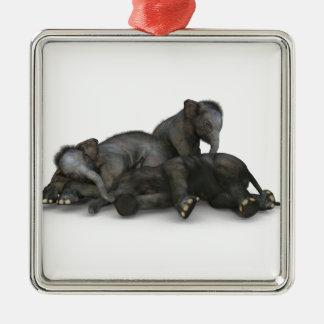 Ornamento De Metal jogo pequeno bonito dos elefantes do bebê