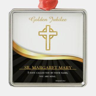 Ornamento De Metal Jubileu dourado da vida religiosa, 50 anos