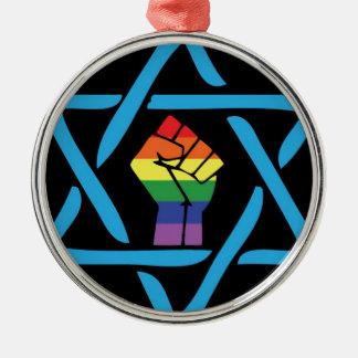 Ornamento De Metal Judaico preto alegre
