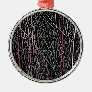 Ornamento De Metal Juncos multicoloridos no rosa e no verde