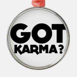 Ornamento De Metal Karmas obtidas, palavras do texto