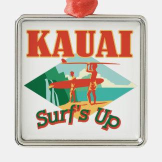 Ornamento De Metal Kauai surfa acima