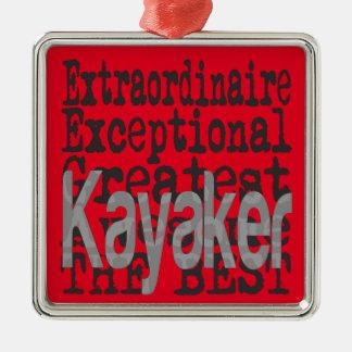 Ornamento De Metal Kayaker Extraordinaire