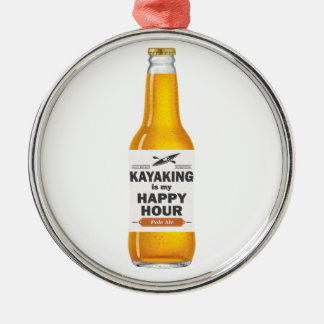 Ornamento De Metal Kayaking é meu happy hour