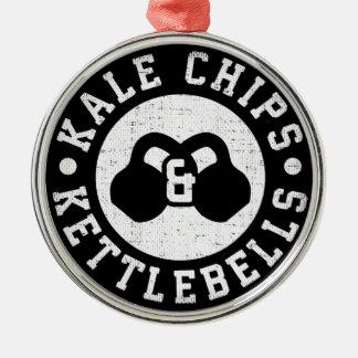 Ornamento De Metal Kettlebells e microplaquetas da couve - exercício
