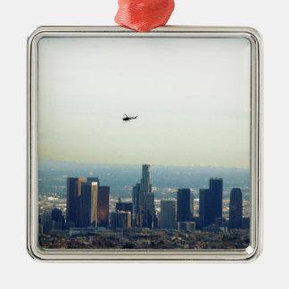 Ornamento De Metal LA e helicóptero