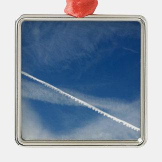 Ornamento De Metal laço branco no céu