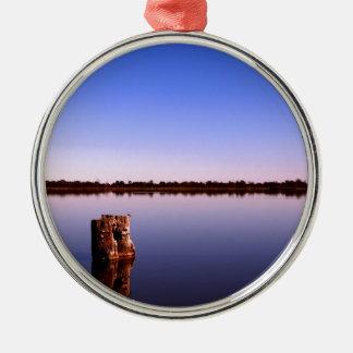 Ornamento De Metal Lago quieto