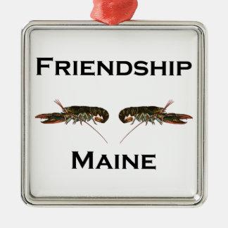 Ornamento De Metal Lagostas de Maine da amizade