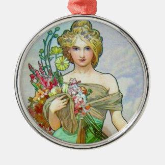 Ornamento De Metal Le Printemps c1895