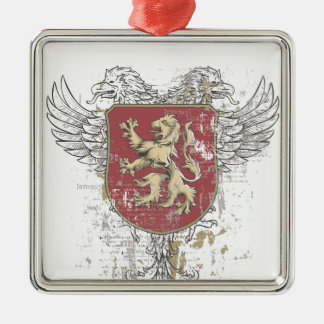 Ornamento De Metal leão da coroa e a marca