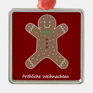 Ornamento De Metal Lebkuchenmann Fröhliche Weihnachten