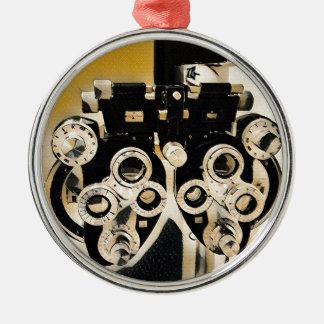 Ornamento De Metal Lentes artísticas raras do exame da optometria