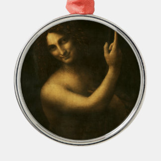 Ornamento De Metal Leonardo da Vinci - pintura de John The Baptist do