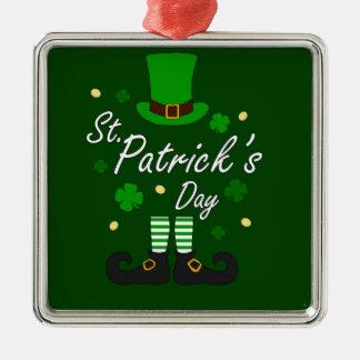 Ornamento De Metal Leprechaun de Patricks da rua