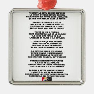 Ornamento De Metal Levando o Luto da minha Infância - Poema