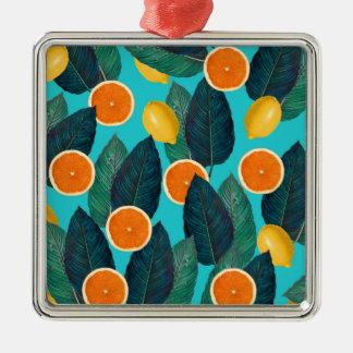 Ornamento De Metal limões e cerceta das laranjas