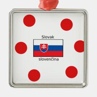 Ornamento De Metal Língua e design eslovacos da bandeira de Slovakia