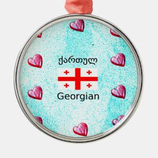 Ornamento De Metal Língua e design Georgian da bandeira
