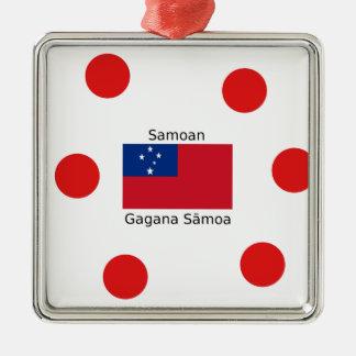 Ornamento De Metal Língua e design samoanos da bandeira de Samoa